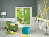 Salon, wiosenna aranżacja wnętrza