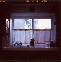 Firanki w oknie